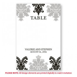 Camille Table Cards