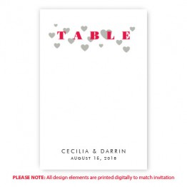 Courtney Table Cards
