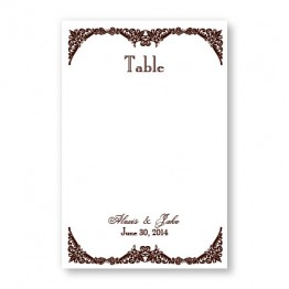 Elegantly Edged Table Cards