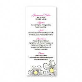 Stylish Blooms Menu Cards