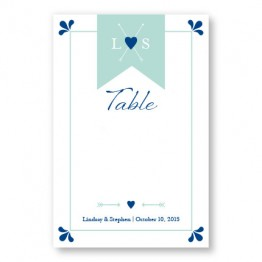 Hearts and Arrows Table Cards