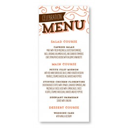 Fanfare Menu Cards
