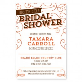 Fanfare Bridal Shower Invitations