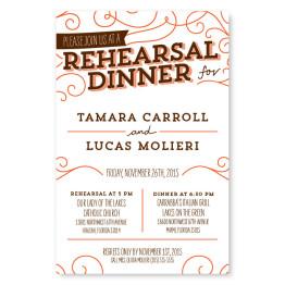 Fanfare Rehearsal Dinner Invitations