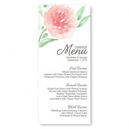 Watercolor Floral Menu Cards
