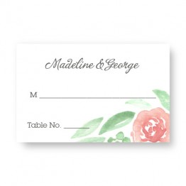 Watercolor Floral Seating Cards