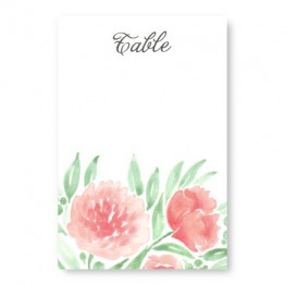Watercolor Floral Table Cards