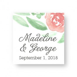 Watercolor Floral Favor Tags