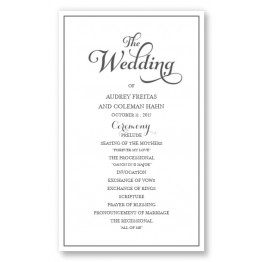 Tweed Wedding Program