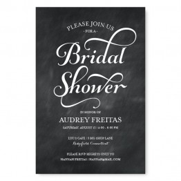 Tweed Bridal Shower Invitations