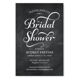 Tweed Bridal Shower Invitations