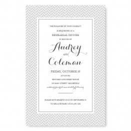 Tweed Rehearsal Dinner Invitations