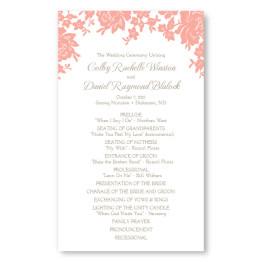 Antique Lace Wedding Program