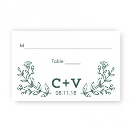 Garden Monogram Seating Cards