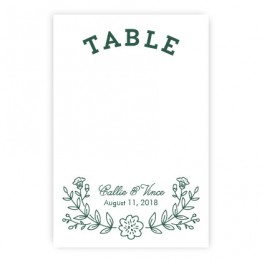 Garden Monogram Table Cards