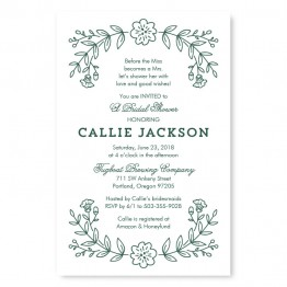 Garden Monogram Shower Invitations