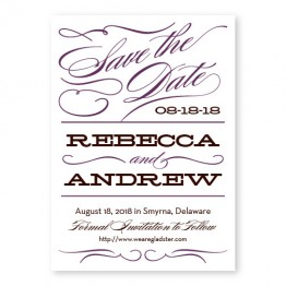 Retro Letterpress Save the Date