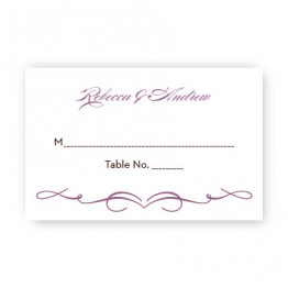 Retro Seating Cards