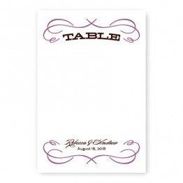 Retro Table Cards