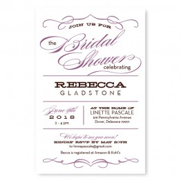 Retro Shower Invitations