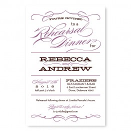Retro Rehearsal Dinner Invitations