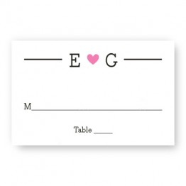 Simple Heart Seating Cards