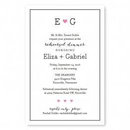 Simple Heart Rehearsal Dinner Invitations