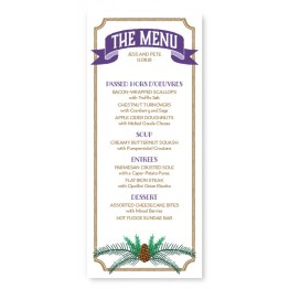 Evergreen Banner Menu Cards