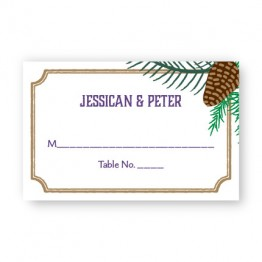 Evergreen Banner Seating Cards