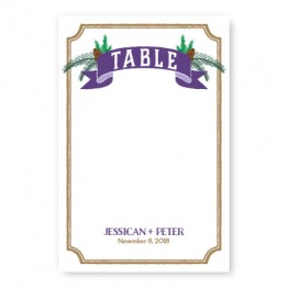 Evergreen Banner Table Cards