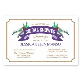 Evergreen Banner Bridal Shower Invitations