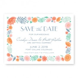 Blossoms Save The Date Cards