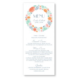 Blossoms Menu Cards