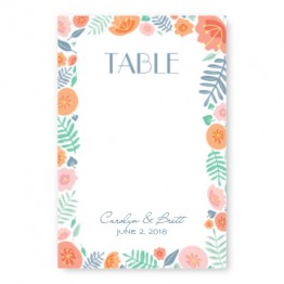 Blossoms Table Cards