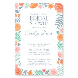 Blossoms Bridal Shower Invitations