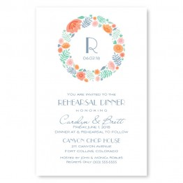 Blossoms Rehearsal Dinner Invitations