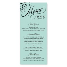 Luxe Menu Cards