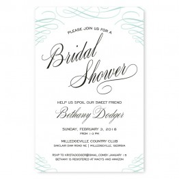 Luxe Bridal Shower Invitations