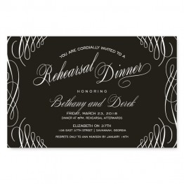 Luxe Rehearsal Dinner Invitations