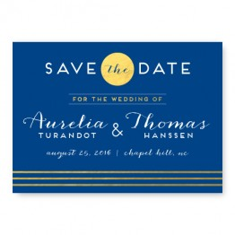 Moonlight Foil Save The Date Cards