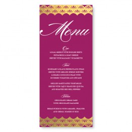 Casablanca Foil Menu Cards