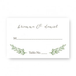 Verdant Seating Cards