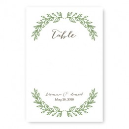 Verdant Table Cards