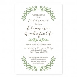 Verdant Bridal Shower Invitations