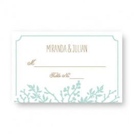 Winter Flora Seating Cards