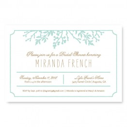 Winter Flora Bridal Shower Invitations