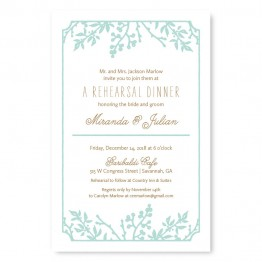 Winter Flora Rehearsal Dinner Invitations