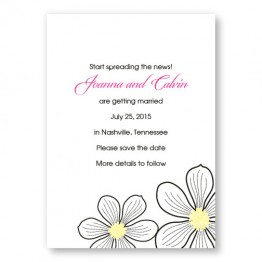 Stylish Blooms Save The Date Cards