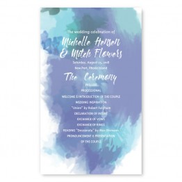 Boho Romance Wedding Program