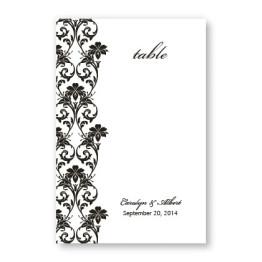 Romantic Vines Table Cards